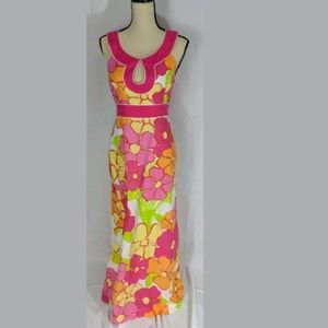 Lilly Pulitzer NWOT Maxi Dress Retro/Floral size 8
